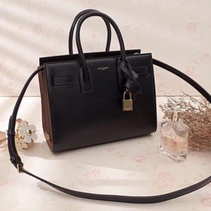 Replica Saint Laurent YSL 324823 Classic Sac De Jour Small Bags In Black Smooth Leather