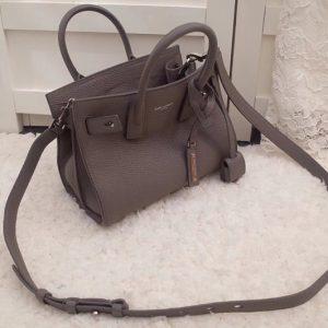 Replica Saint Laurent YSL 466283 Nano Sac De Jour Souple Bag In Gray Grained Leather