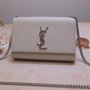 Replica Saint Laurent YSL 469390 Kate Small Bags In Gray Grain De Poudre Embossed Leather
