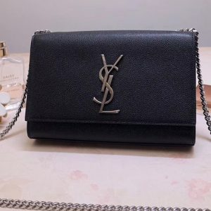 Replica Saint Laurent YSL 469390 Kate Small Bags In Black Grain De Poudre Embossed Leather
