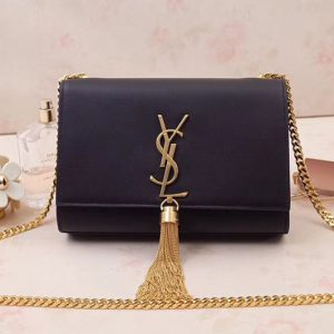 Replica Saint Laurent 474366 Kate Small With Tassel Bags In Black Smooth Leather Gold Hardware