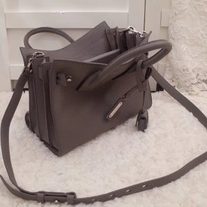 Replica Saint Laurent YSL 477477 Sac De Jour Baby In Gray Grained Leather