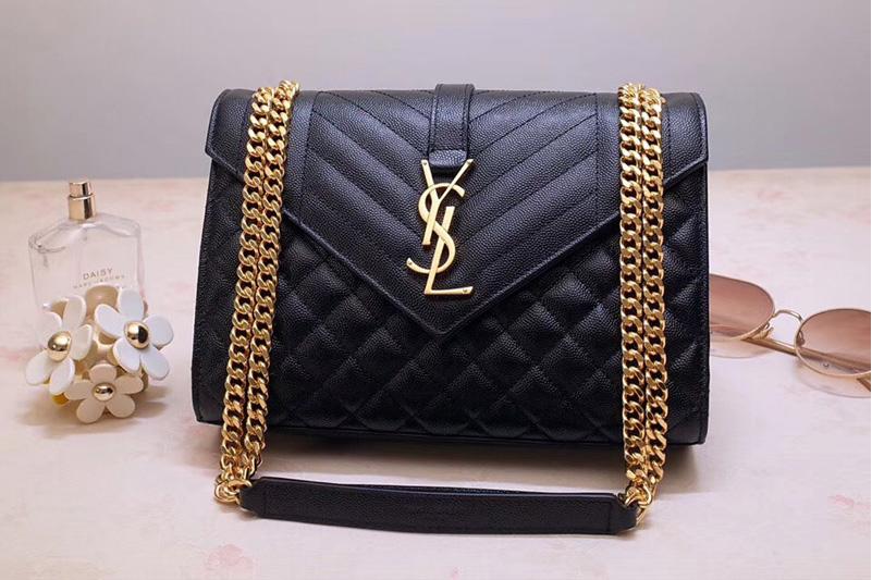 Saint Laurent Ysl 487206 Envelope Medium Bag In Black Mix