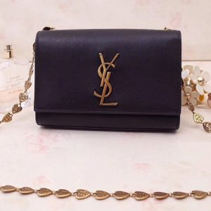 Replica Saint Laurent YSL 517023 Kate Small With Tassel Bags In Black Smooth Leather
