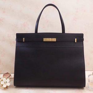 Replica Saint Laurent YSL 553745 Manhattan Medium Bag In Black Smooth Leather