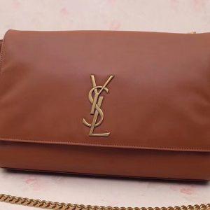 Replica Saint Laurent YSL 553804 Kate Small Bags In Tan Grain De Poudre Embossed Leather