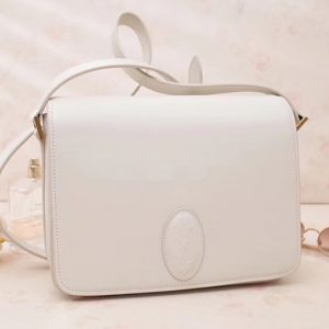 Replica Saint Laurent YSL 568568 Le 61 Saddle Bag In White Smooth Leather