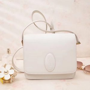 Replica Saint Laurent YSL 568569 Le 61 Small Saddle Bag In White Smooth Leather