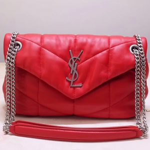 Replica Saint Laurent YSL 577476 Loulou Small Bag in Red Quilted Lambskin Leather