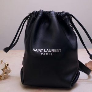 Replica Saint Laurent YSL 583328 Teddy Small Bucket Bag In Lambskin Leather