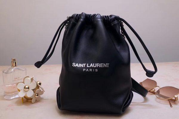 Replica Saint Laurent YSL 583328 Teddy Small Bucket Bag In Lambskin Leather