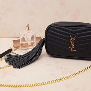 Replica Saint Laurent YSL 585040 Lou Mini Camera Bag in Black Matelasse Leather