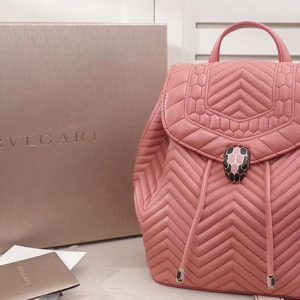 Replica Bvlgari Serpenti Forever 286536 Backpack Pink Nappa Leather