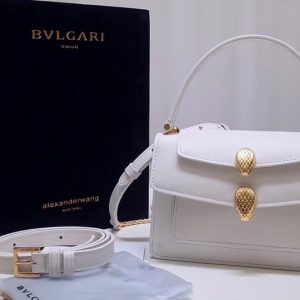 Replica Alexander Wang x Bvlgari 288738 Belt Bag White Smooth Calf Leather