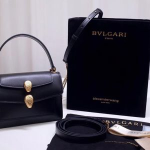 Replica Alexander Wang x Bvlgari 288738 Belt Bag Black Smooth Calf Leather