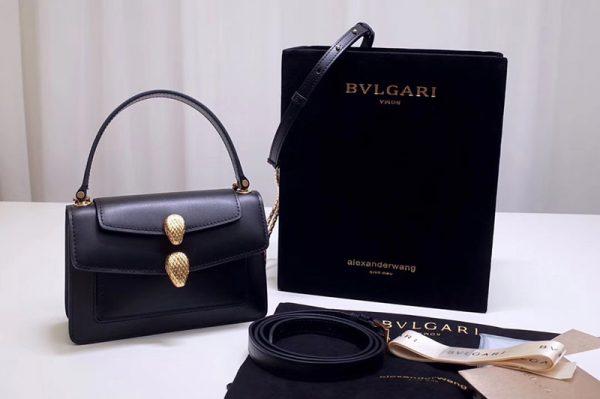 Replica Alexander Wang x Bvlgari 288738 Belt Bag Black Smooth Calf Leather