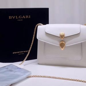 Replica Alexander Wang x Bvlgari 288741 Crossbody Bags White Smooth Calf Leather