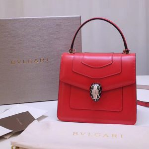 Replica Bvlgari Serpenti Forever 38329 Crossbody Bags Red Calf Leather