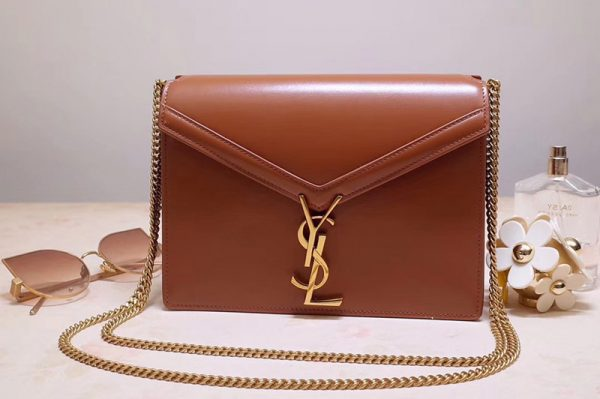 Replica Saint Laurent YSL 532750 Cassandra Monogram Clasp Bags In Tan Smooth Leather