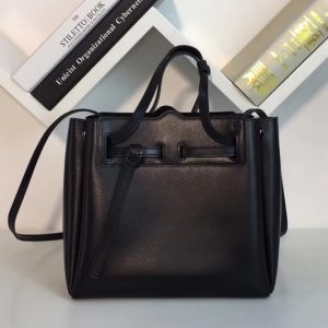 Replica Loewe 329.74.Z71 Lazo Mini Bag Black Boxcalf