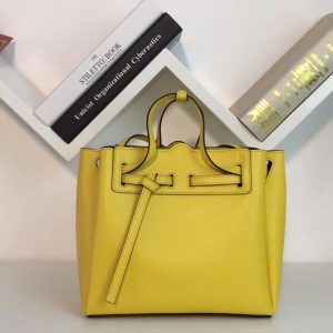 Replica Loewe 329.74.Z71 Lazo Mini Bag Yellow Boxcalf