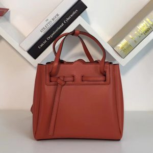 Replica Loewe 329.74.Z71 Lazo Mini Bag Orange Boxcalf