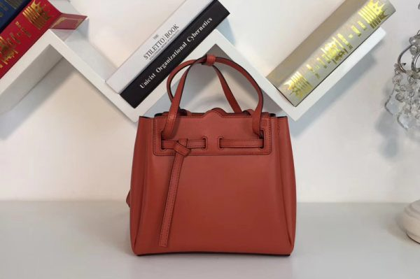 Replica Loewe 329.74.Z71 Lazo Mini Bag Orange Boxcalf