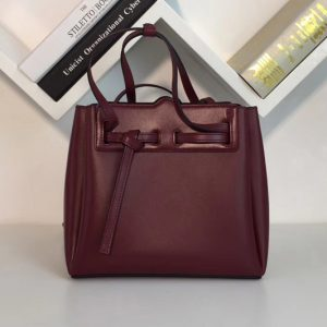 Replica Loewe 329.74.Z71 Lazo Mini Bag Wine Boxcalf