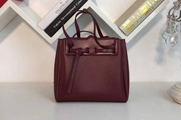 Replica Loewe 329.74.Z71 Lazo Mini Bag Wine Boxcalf