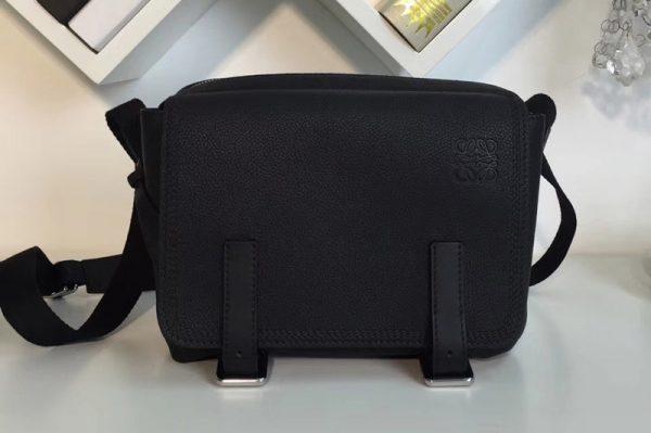 Replica Loewe 317.12AA72 military messenger XS Bags Black Soft Grained Calf Leather