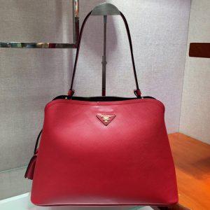 Replica Prada 1BA249 Matinee handbags Red Saffiano leather