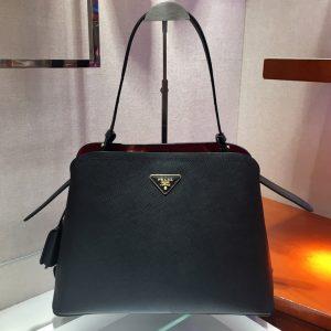 Replica Prada 1BA249 Matinee handbags Black Saffiano leather