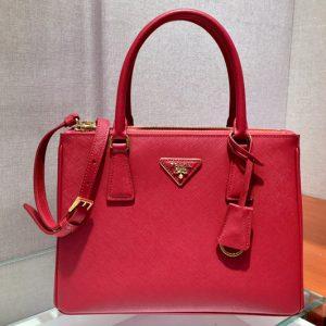 Replica Prada 1BA863 Galleria Small Saffiano Leather Bags Red Saffiano Leather