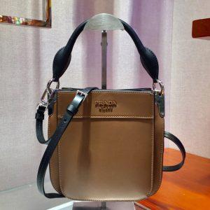 Replica Prada 1BC082 Margit Small leather bags Caramel Calf leather