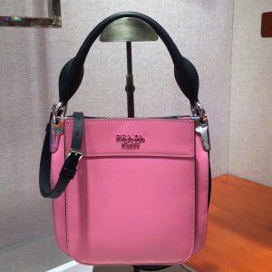 Replica Prada 1BC082 Margit Small leather bags Pink Calf leather