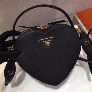 Replica Prada 1BH144 Odette Bags Black Saffiano leather