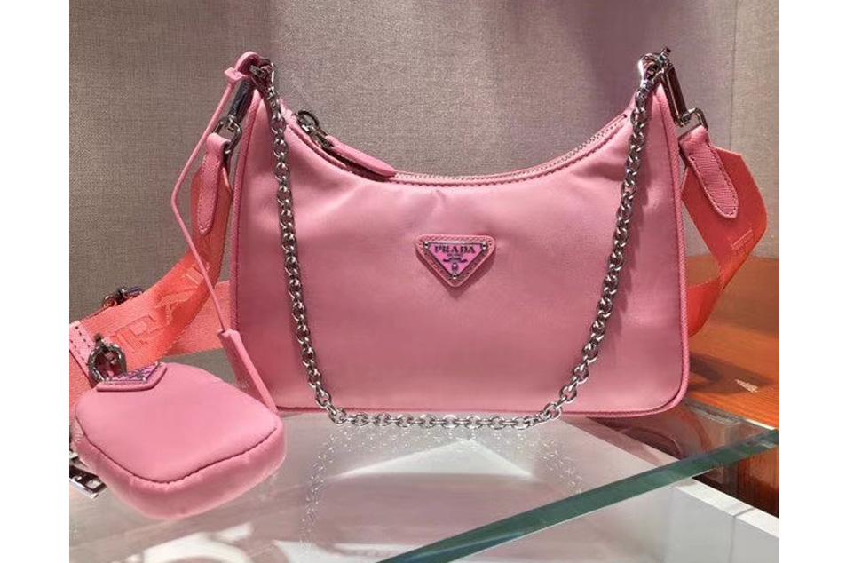 Nylon And Saffiano Leather Mini Bags