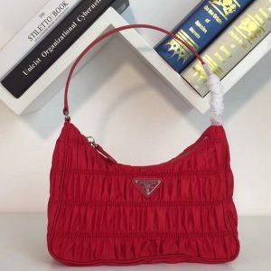 Replica Prada 1NE204 Nylon and Saffiano leather mini bag Red Nylon