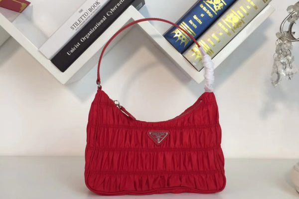 Replica Prada 1NE204 Nylon and Saffiano leather mini bag Red Nylon
