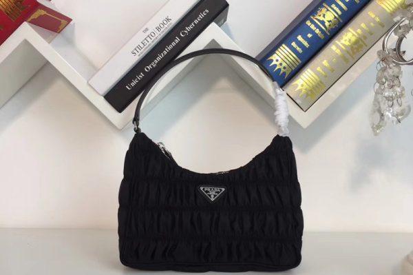Replica Prada 1NE204 Nylon and Saffiano leather mini bag Black Nylon