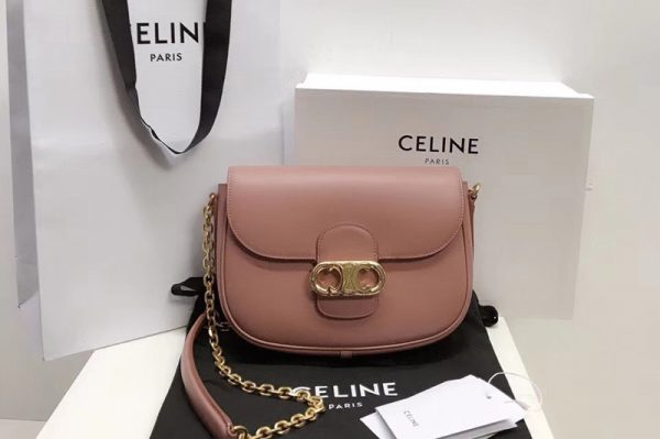 Replica Celine SMALL CRECY BAG IN Pink SATINATED CALFSKIN