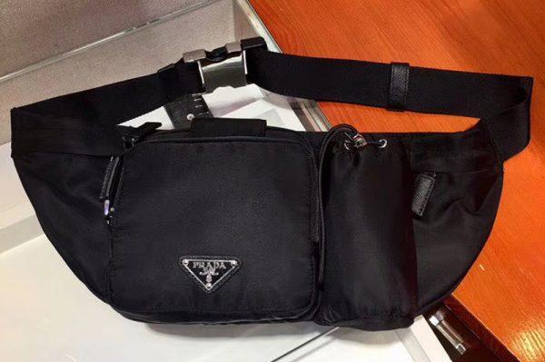 Replica Prada 2VL056 Technical Fabric Belt Bags Black Technical fabric