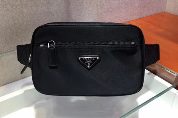 Replica Prada 2VL977 Nylon Belt Bag Black Nylon