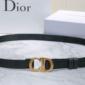 Replica Dior Saddle Nylon 20mm belt in Black Nylon