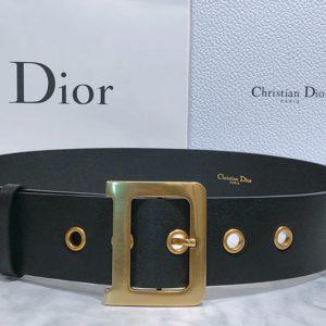 Replica Dior Diorquake Belt 55mm in Black Calfskin Leather