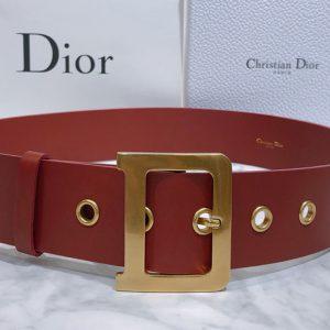 Replica Dior Diorquake Belt 55mm in Red Calfskin Leather