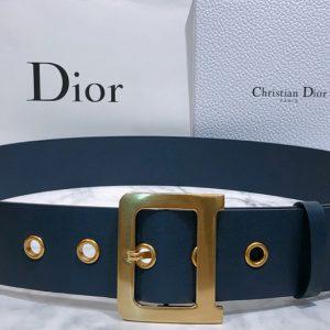 Replica Dior Diorquake Belt 55mm in Blue Calfskin Leather