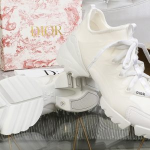 Replica Women Dior KCK222NGG D-Connect sneaker in White neoprene