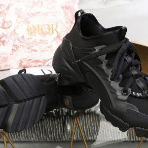 Replica Women Dior KCK222NGG D-Connect sneaker in Black neoprene