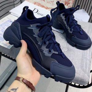 Replica Women Dior KCK222NGG D-Connect sneaker in Blue neoprene